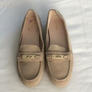 Suede driving flats
